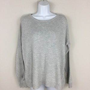 H&M Crew Neck Pullover Oversized Sweater zipper